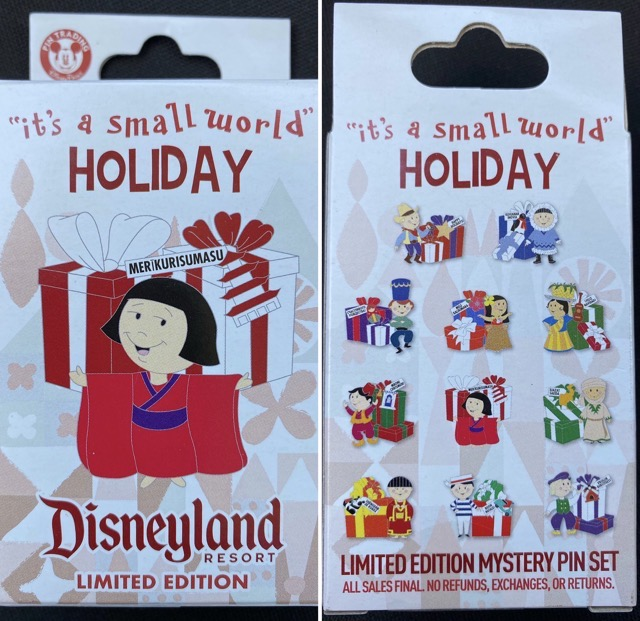 it's a small world Holiday 2020 Mystery Pin Collection