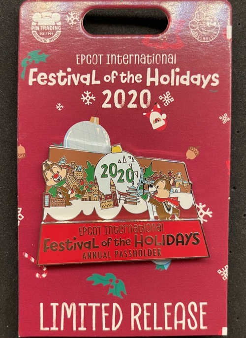 Annual Passholder Epcot Festival of the Holidays 2020 Disney Pin