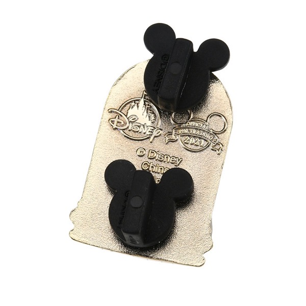 Back of Magic Rose Pin - Disney Store Japan