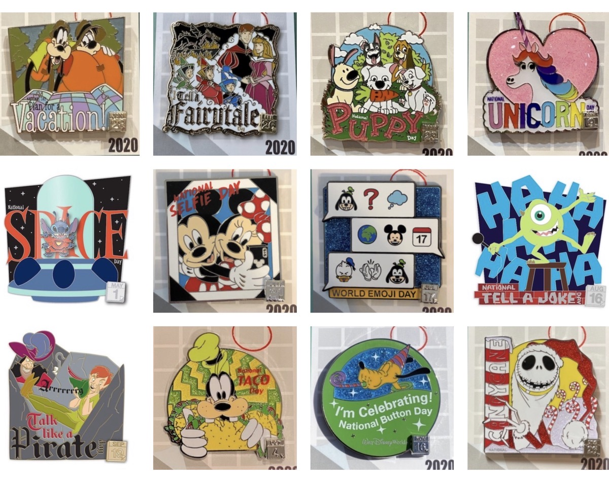 Complete Celebrate Today! Disney Pin Collection