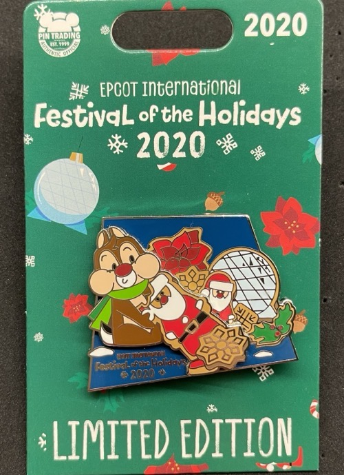 Dale Santa Cookie Epcot Festival of the Holidays 2020 Disney Pin