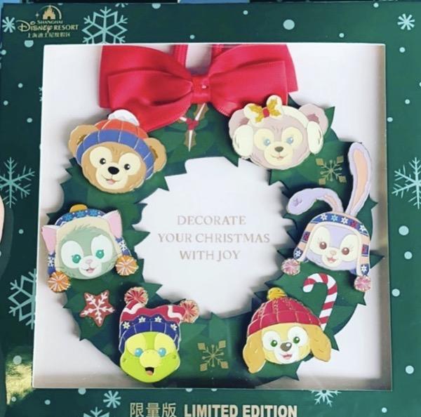 Duffy and Friends Christmas 2020 Jumbo Pin - Shanghai Disney Resort