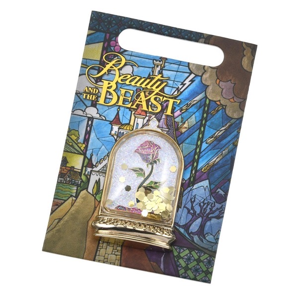 Enchanted Rose Beauty and the Beast Pin at Disney Store Japan