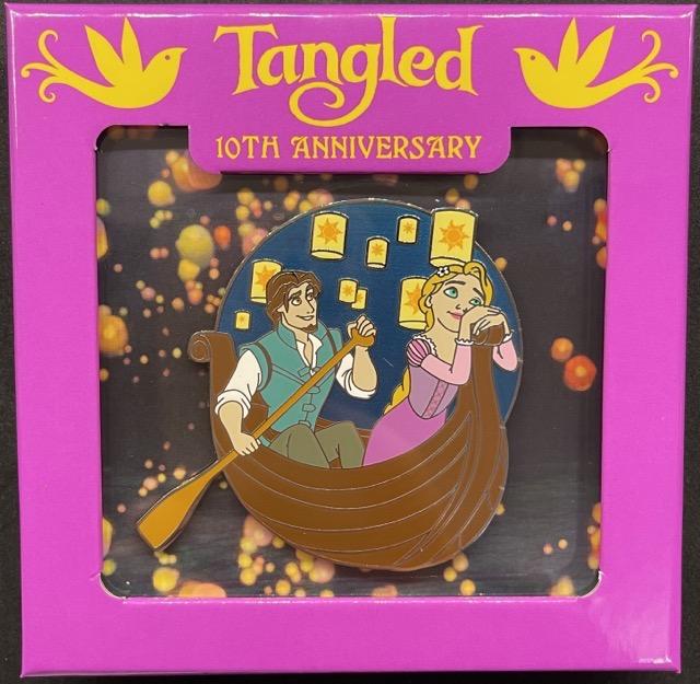 Flynn Rider & Rapunzel Mini Jumbo Pin - Tangled 10th Anniversary