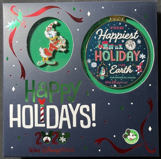 Happy Holidays 2020 WDW Pin & Ornament Set