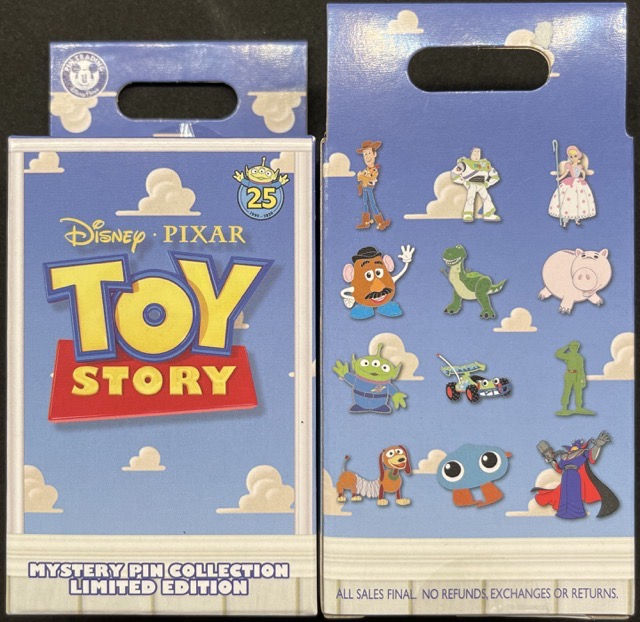 Toy Story 25th Anniversary Mystery Pin Set