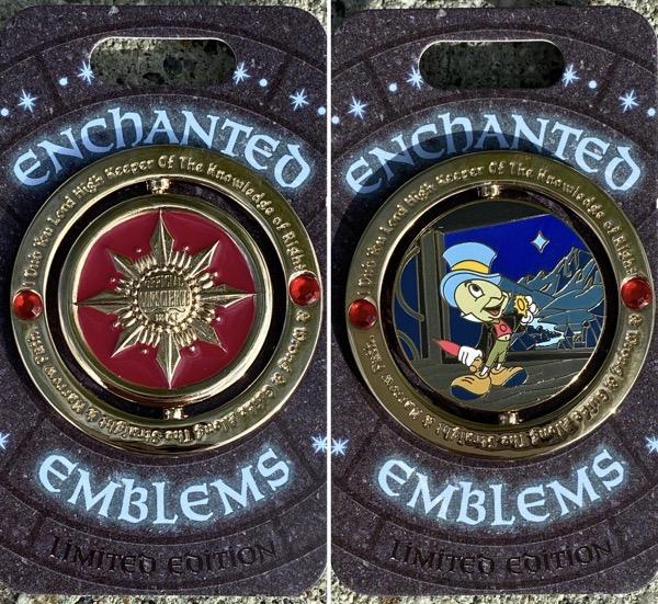 Jiminy Cricket Enchanted Emblem Disney Pin