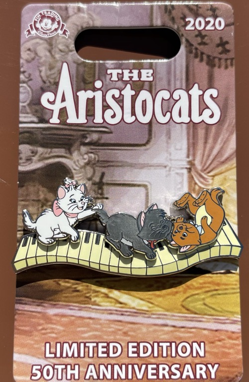 Marie, Berlioz, Toulouse Aristocats 50th Anniversary Disney Pin