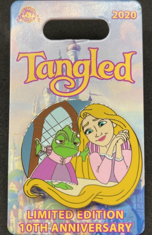 Pascal & Rapunzel - Tangled 10th Anniversary Pin