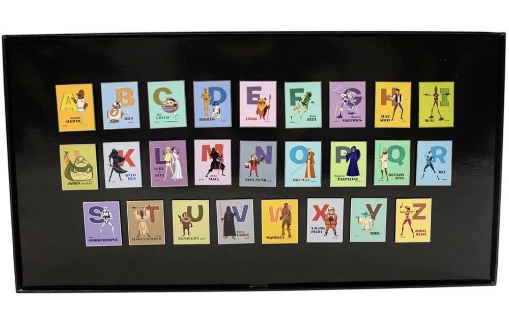 Star Wars Artist Series Alphabet 26-Piece Pin Set by Shag