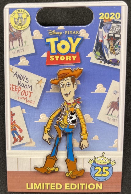 Woody - Toy Story 25th Anniversary Pin