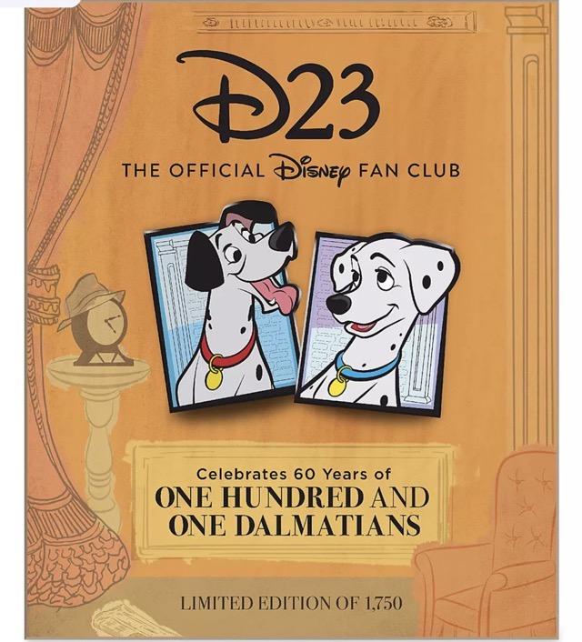 101 Dalmatians 60th Anniversary D23 Exclusive Pin Set