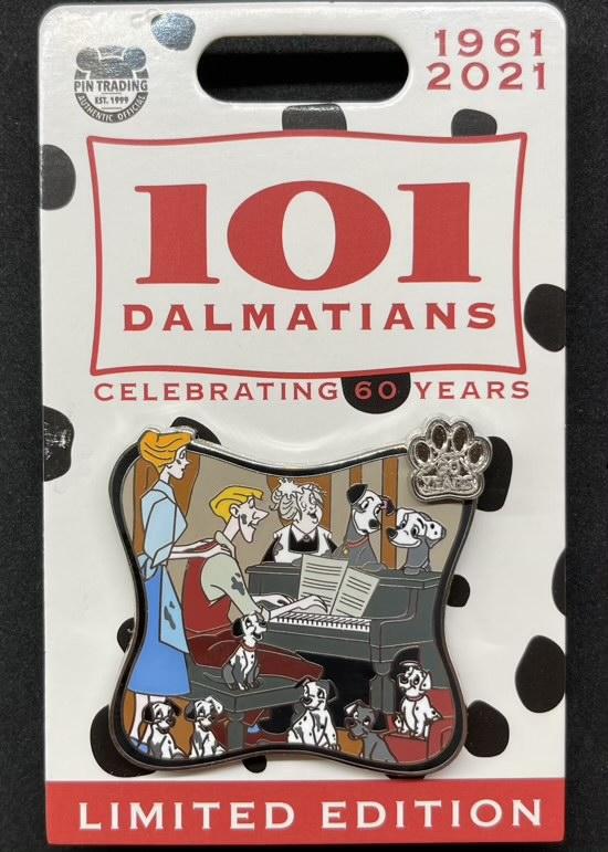 Anita & Roger - 101 Dalmatians 60th Anniversary Disney Pin