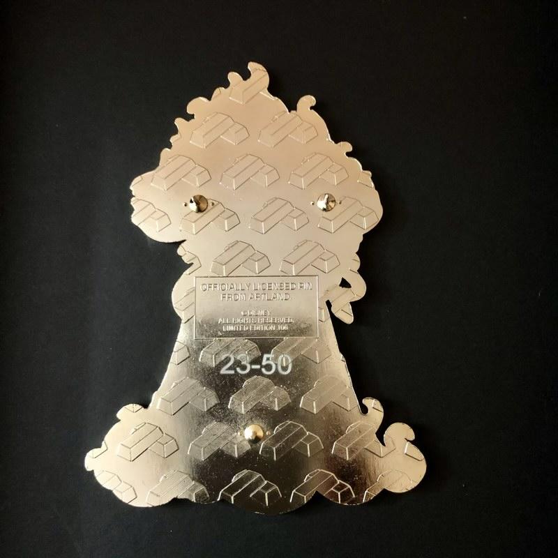 Back of Hades Jumbo LE 100 ArtLand Disney Pin