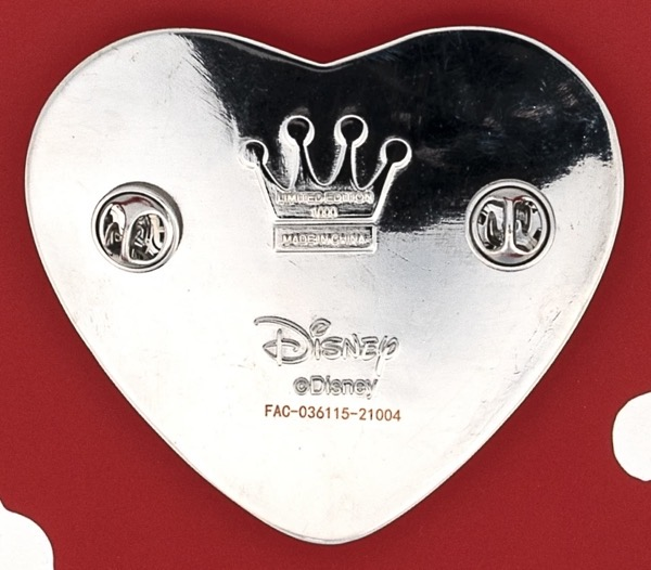 Back of Mickey and Minnie Mouse Love Confetti Limited Edition Pin