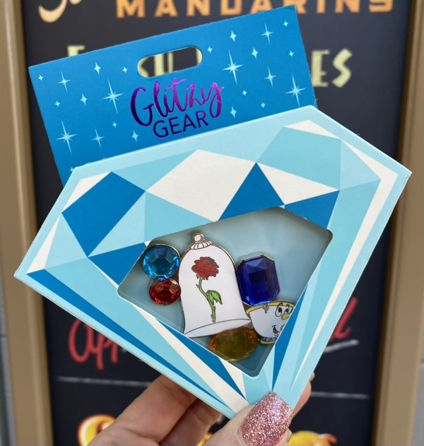 Beauty and the Beast Glitzy Gear Disney Pin