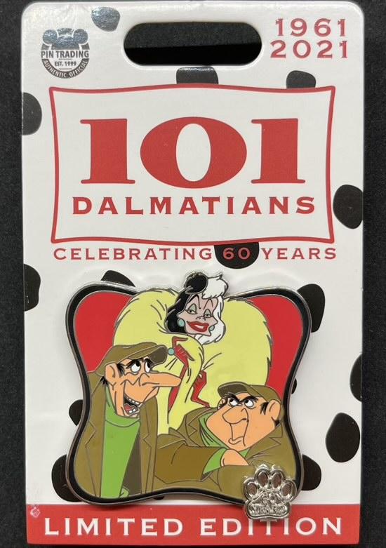 Cruella De Vil - 101 Dalmatians 60th Anniversary Disney Pin