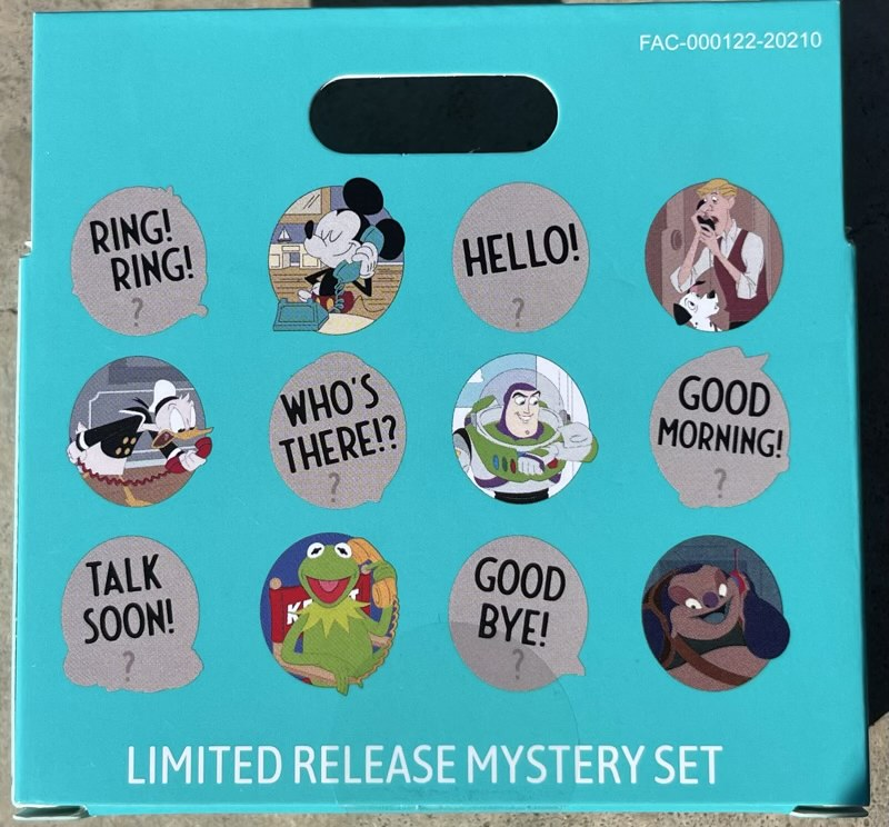 Disney Switchboard Reveal Conceal Mystery Pin Box