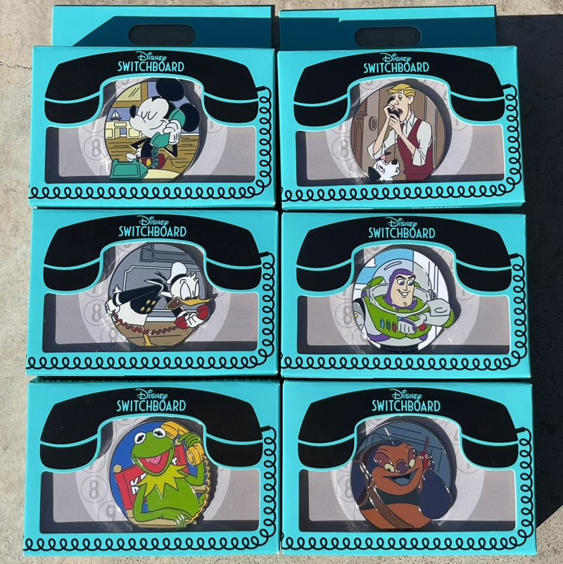 Disney Switchboard Reveal Conceal Mystery Pin Collection