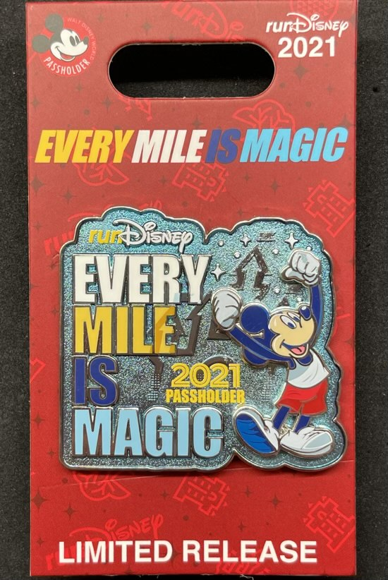 Every Mile is Magic runDisney 2021 AP Pin