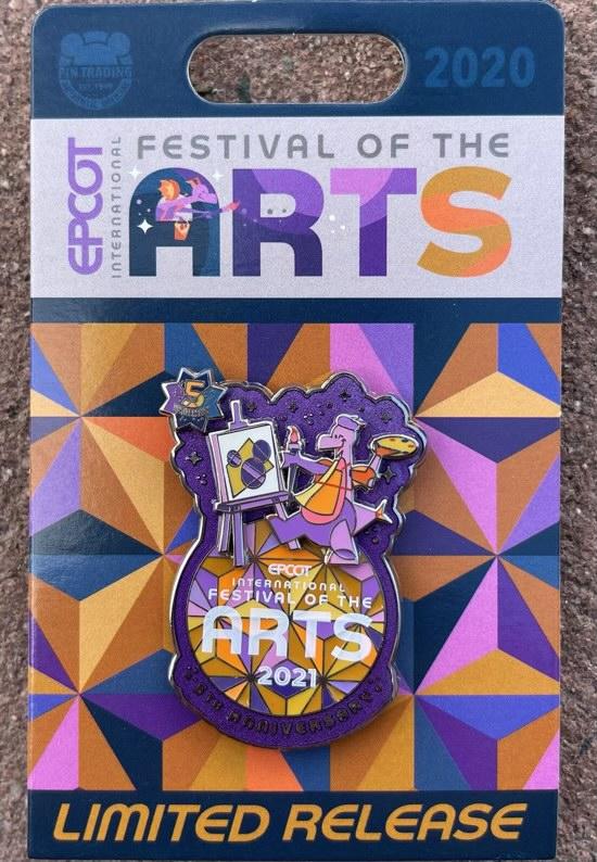Figment Pin - Epcot Festival of the Arts 2021