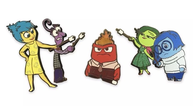 Inside Out Flair Pins
