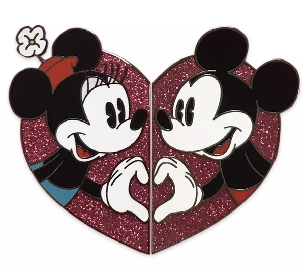 Mickey & Minnie Mouse Valentine's Day 2021 Pin Set