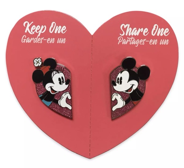 Mickey & Minnie Mouse Valentine's Day Pin Set at shopDisney Mickey & Minnie Mouse Valentine's Day Pin Set at shopDisney