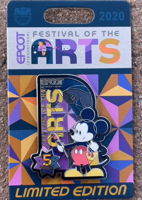 Mickey Mouse Pin - Epcot Festival of the Arts 2021