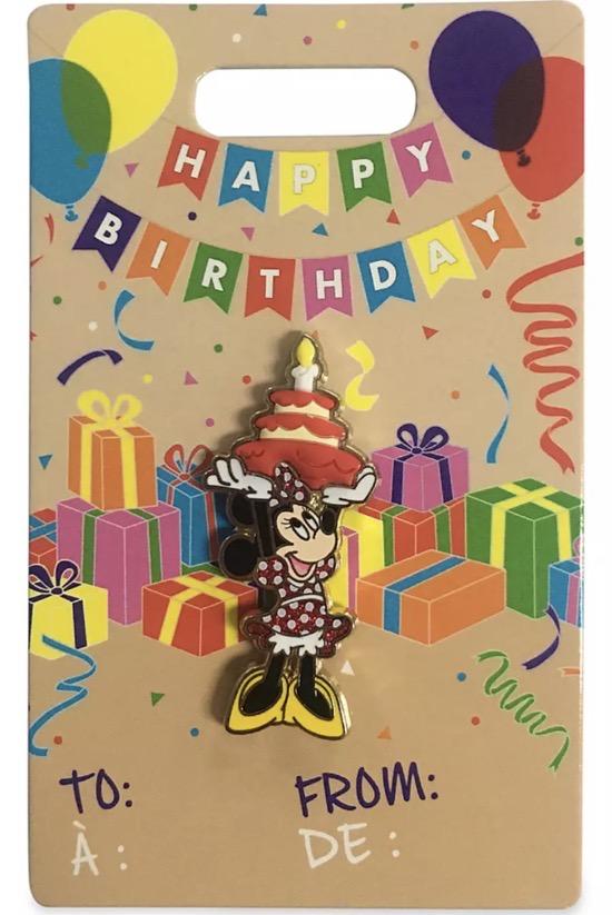 Minnie Mouse Happy Birthday 2021 Disney Pin