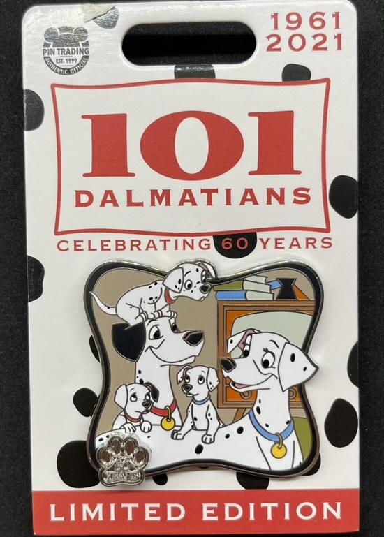 Pongo & Perdita - 101 Dalmatians 60th Anniversary Disney Pin
