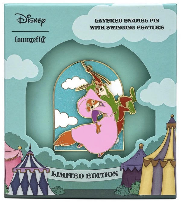 Robin Hood Rescues Maid Marian Loungefly Pin