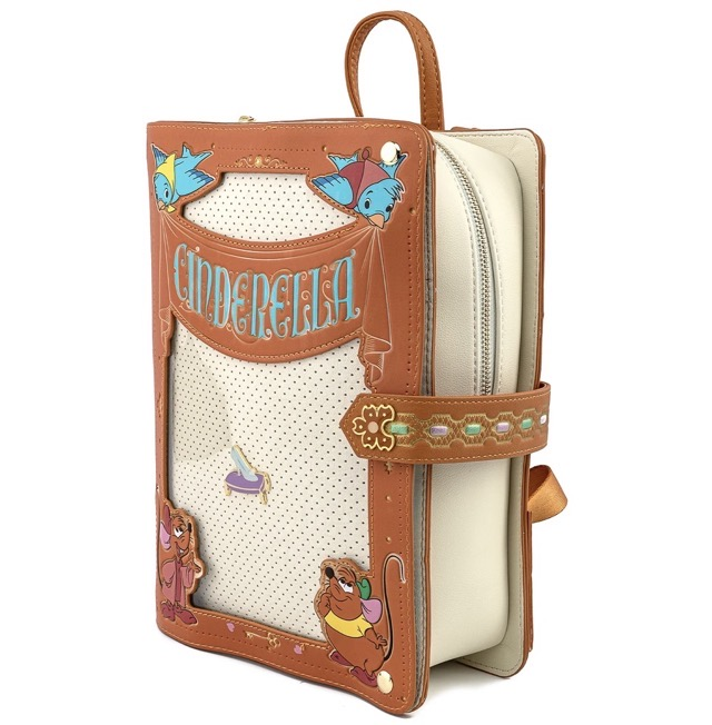 Side View - Cinderella Pin Collector Backpack by Loungefly