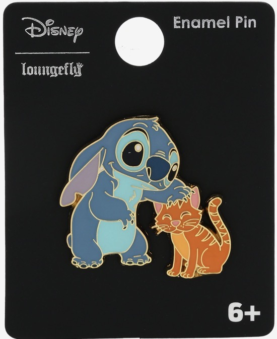 Stitch with Cat BoxLunch Disney Pin