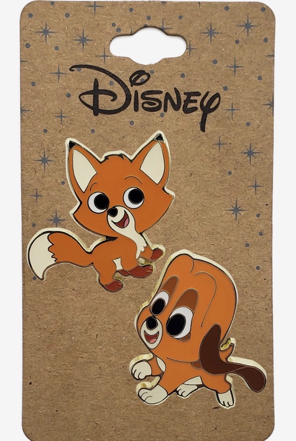The Fox and the Hound Chibi BoxLunch Disney Pin Set