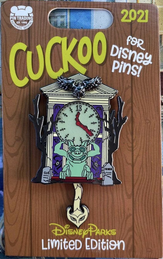 The Haunted Mansion Cuckoo for Disney Pin