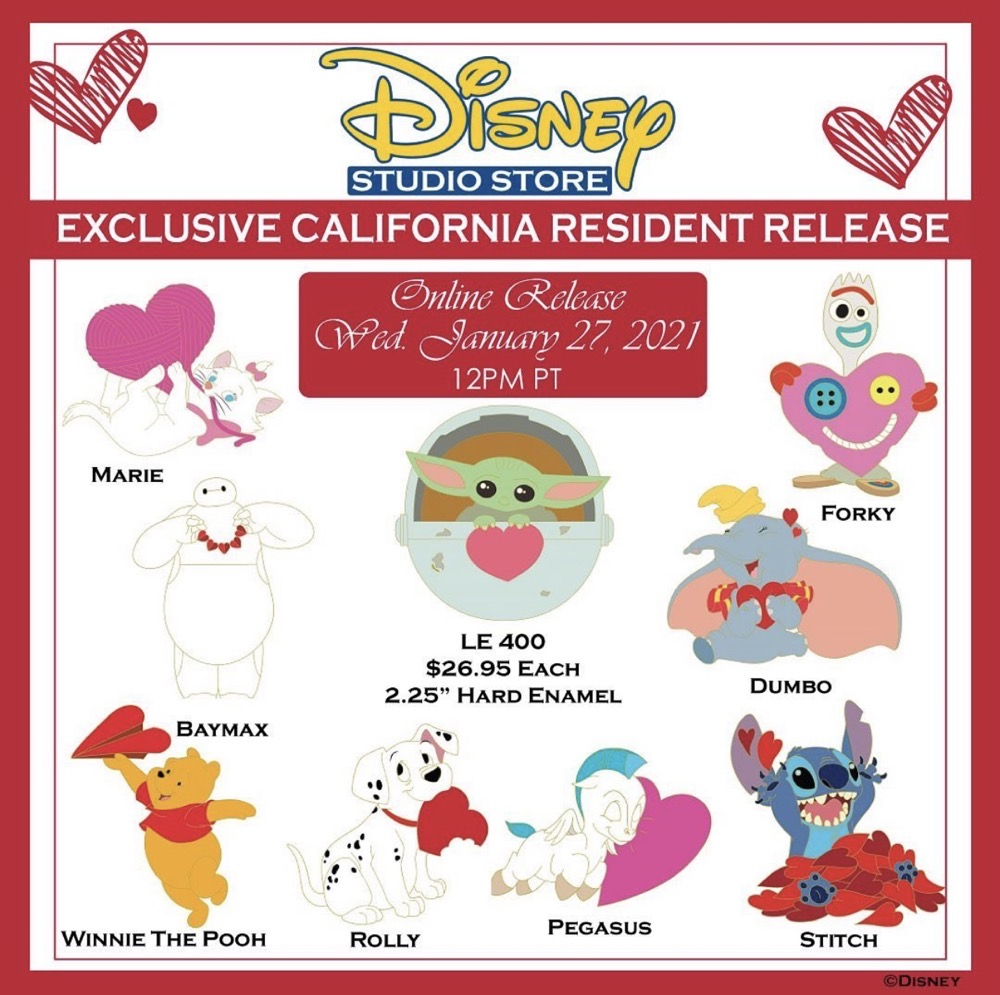 Valentine's Day 2021 DSSH Pin Releases