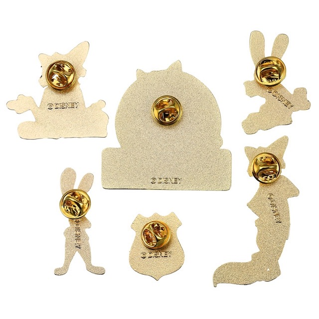 Back of Judy Hopps & Nick Wilde Disney Japan Pin Set
