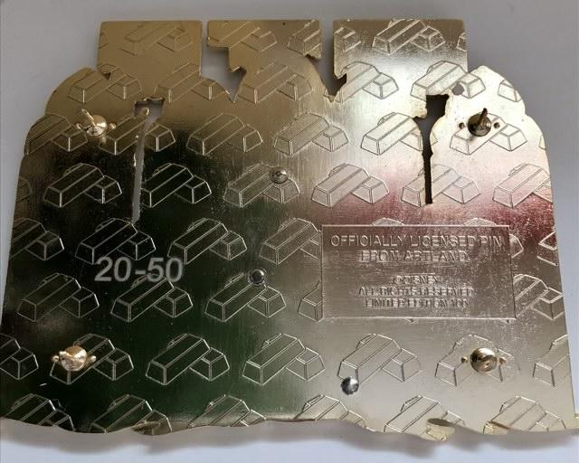 Back of Maleficent LE 100 ArtLand Pin