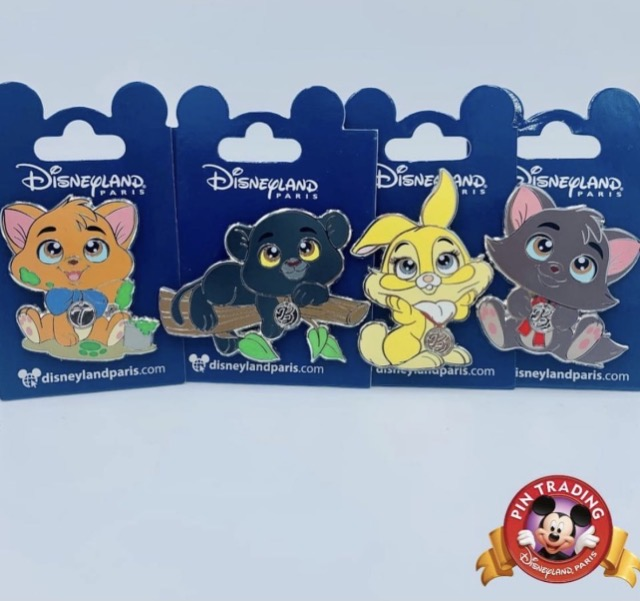 Bagheera, Miss Bunny, Berlioz and Toulouse Minis Disney Pins