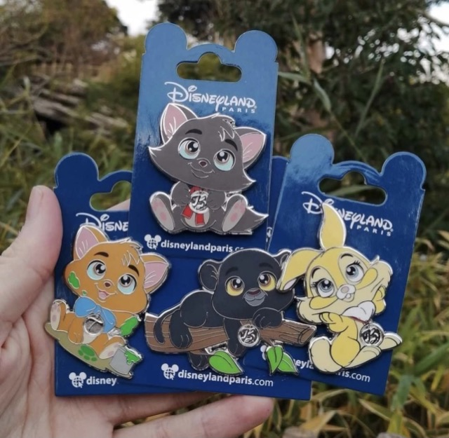 Bagheera, Miss Bunny, Berlioz and Toulouse Minis Pins - Disneyland Paris