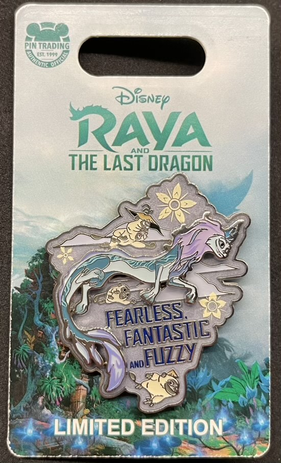 Fearless Fuzzy Raya and the Last Dragon Pin