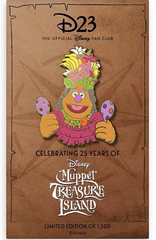 Fozzie Muppet Treasure Island 25th Anniversary D23 Pin