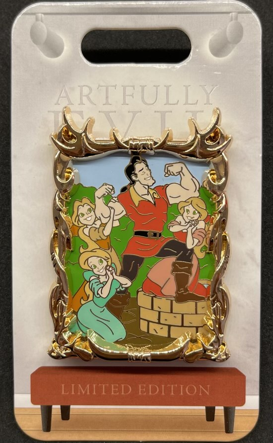 Gaston Artfully Evil Disney Pin