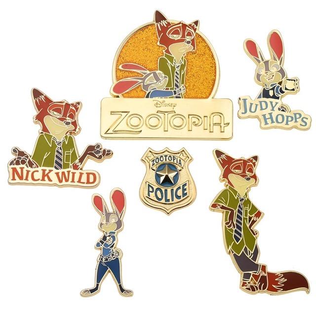 Judy Hopps & Nick Wilde Disney Japan Pin Set Judy Hopps & Nick Wilde Disney Japan Pin Set