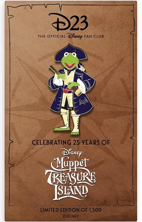 Kermit Muppet Treasure Island 25th Anniversary D23 Pin