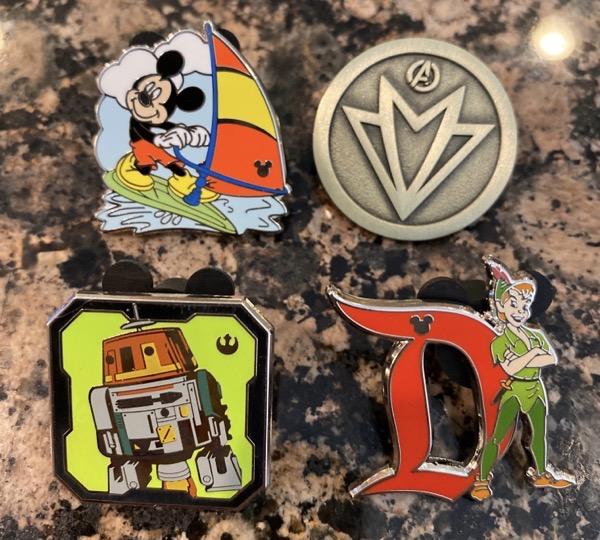 Pins from 2020 Hidden Disney Pouch at Disneyland