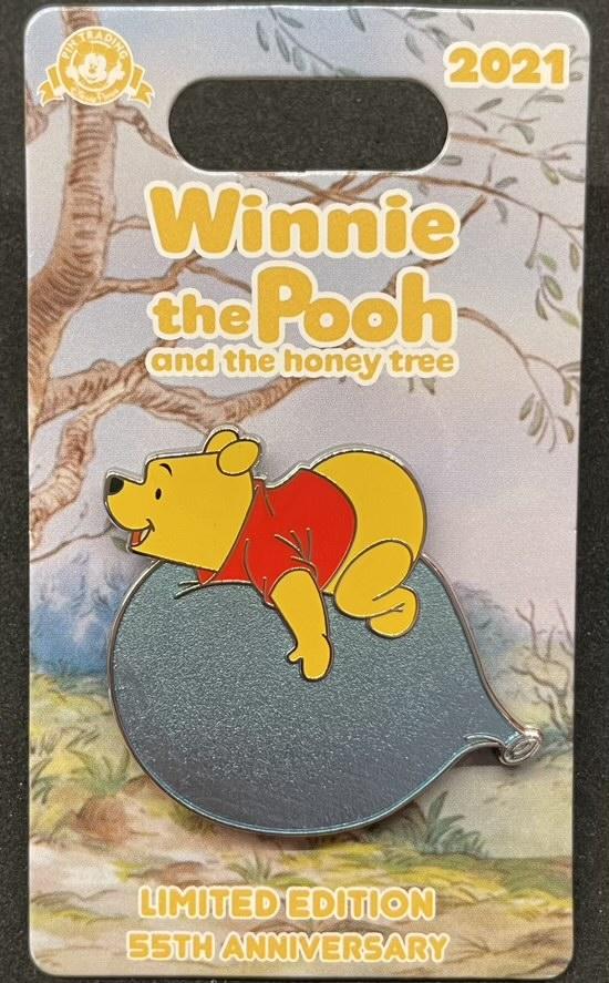 Pooh Balloon - Winnie the Pooh 55th Anniversary Disney Pin