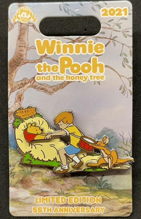 Pooh, Christopher Robin & Kanga - Winnie the Pooh 55th Anniversary Disney Pin