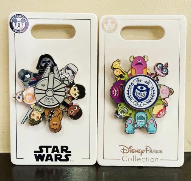 Star Wars & Monsters University Spinner Pins at Shanghai Disney Resort